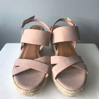 Rubi Shoes - Heeled Sandals (Pink - Size 6)