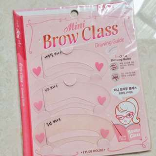 Take all (mini brow class, contact lense case, name tag)