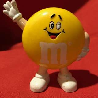 Vintage Yellow M&M's Character Candy Dispenser 1991