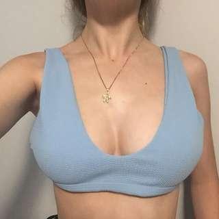 Baku Blue Bikini Top