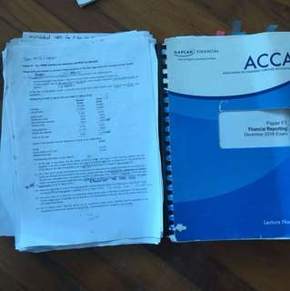 ACCA F7 lecture notes &revision notes