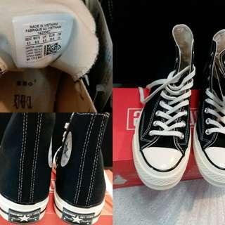 💯%new全新Converes黑色高筒波鞋Chuck taylor All star1970's high(特別版-後面有章)(39.5碼)