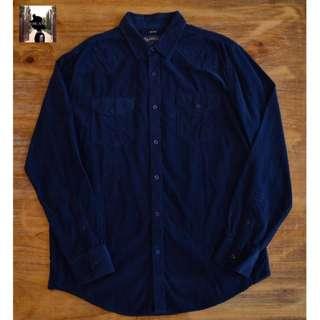 Corduroy Polo Shirt (Navy Blue) by American Rag