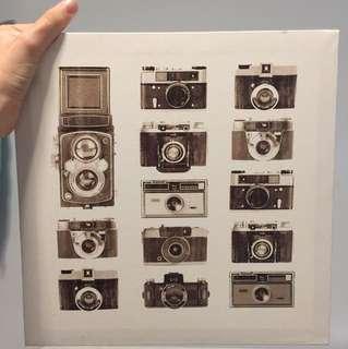 Vintage Camera Decor 28x28cm