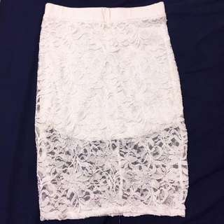 Floral lace Mendocino skirt