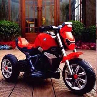 Red Motorcycle 3 Wheels Rechargeable Bike