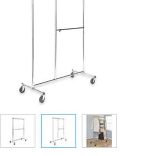 Two tier clothing rack