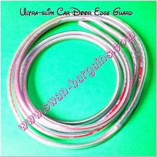 Universal Ultra-slim Invisible Transparent U-Channel Car Boot Door Edge Trim Anti-collision Silicon Rubber Guard Protective Strip w 3M Tape