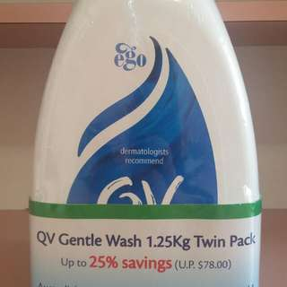 QV Gentle Wash 1.25kg Twin Pack