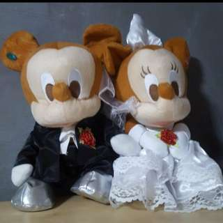 #huat50sale Mickey & Minnie Wedding plushie