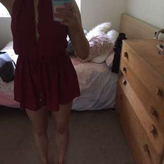 Size 10 maroon playsuit