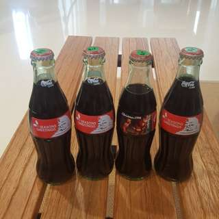 20 years old USA Christmas Coca-Cola bottles