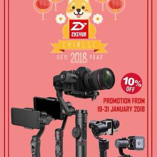 ZHIYUN ALL GIMBAL 10% OFF (Expect for Accessories)