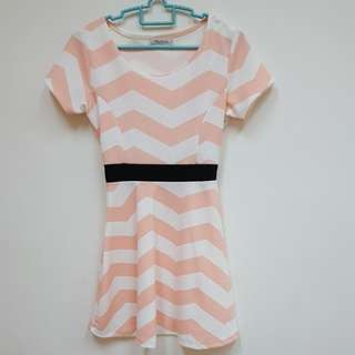 Light Pink Striped Dress (Used)