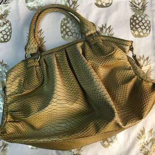 Authentic Nine West crocodile leather handbag