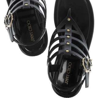 Authentic Jimmy Choo Margot Rubber Gladiator Black