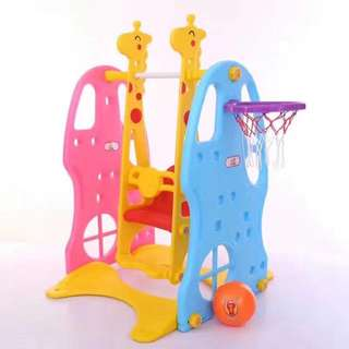 2 in 1 Playground Swing with Basketball Ring