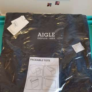 Aigle shopping bag, 深藍色,全新,$100