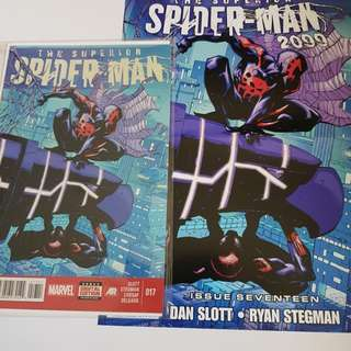 The Superior Spider-man #17- #19 with poster