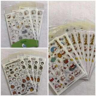 Molang 6 Sheets Sticker