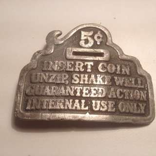Antique belt buckle America 5 cents