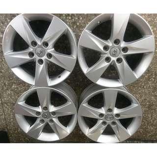 16吋 現代 Hyundai原廠 Elantra完好拆車鋁圈 真圓 豐田/本田/三菱日系車不需加墊片均可直上安裝 含軸套
