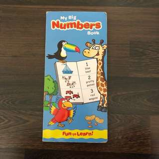 Pre-loved well-used My Big Numbers counting book