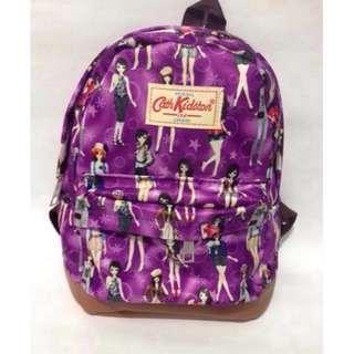 Tas ransel mini CK ungu motif ladies cartoon/ tas wanita