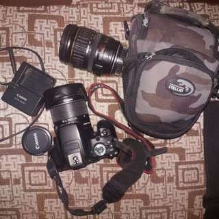 Canon 650D with lenses and Bag