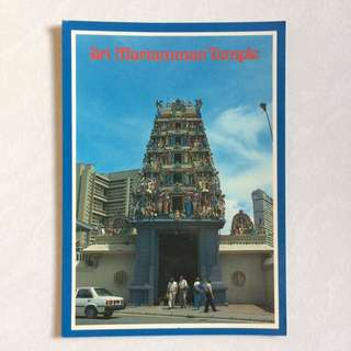 Postcard - Old 1980s Singapore Post Card - Sri Mariamman Temple