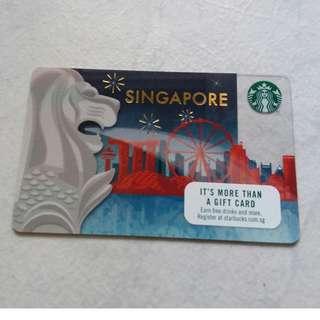 Starbucks $10 card limited edition Merlion design(BN)
