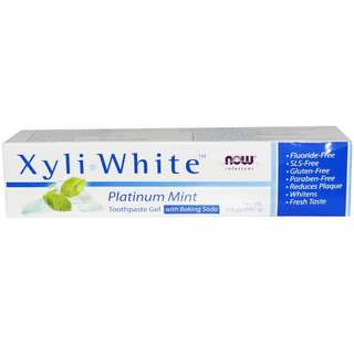 Toothpaste Gel, Solutions, Xyli White, Platinum Mint for a Whiter and Stronger Teeth