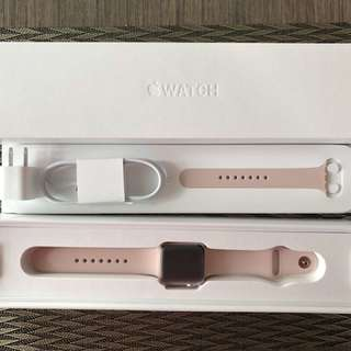 Apple Watch 38mm Series 2 Rose Gold Aluminum with Pink Sand Sport Band