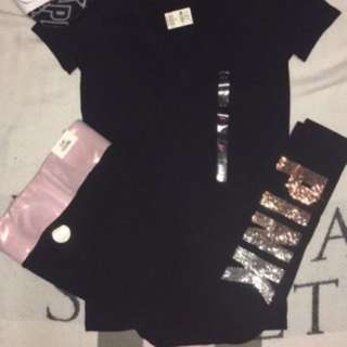 Pink Victoria secret 3pc set. Small