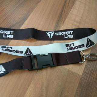 Secret lab lanyard