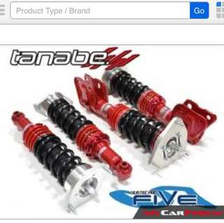 Tanabe Sustec Pro 5 coilover for Honda Fit Ge
