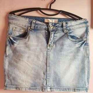 Denim Mini Skirt (Washed)