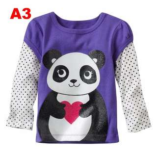 Panda Long Sleeve Top