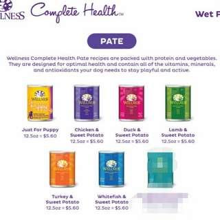 Wellness pate wet food