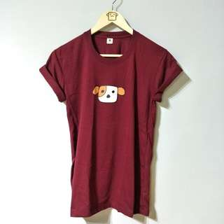 Maroon 100% Cotton Doggy Tee