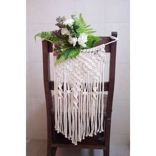 Macrame Decor for Wedding Chairs