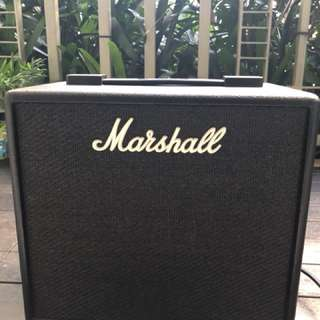 Barely used Marshall CODE 25 guitar combo amplifier.