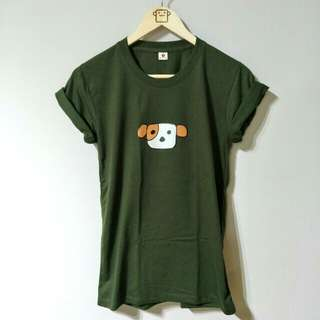 Army green 100% Cotton Doggy Tee
