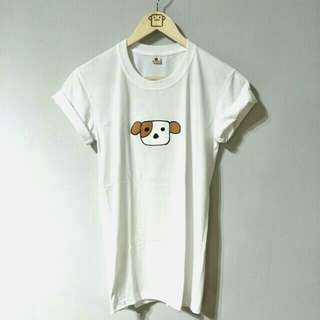 White 100% Cotton Doggy Tee