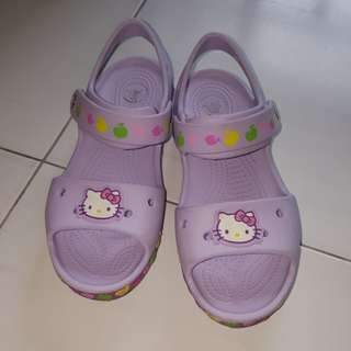 Quick Sale (Price Reduced)-Crocs Sandals- hello kitty
