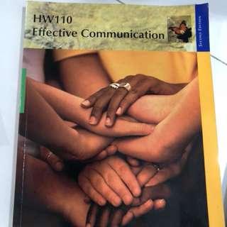 HW110 Effective Communication