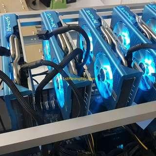 Ethereum Mining Rig 1070 1070Ti 1080Ti  RX570 RX580 RX470 RX480