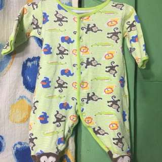 Baby Starters Green Footed Onesies