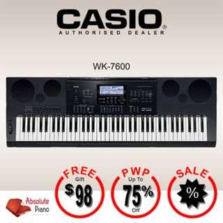 CASIO High-Grade Digital Keyboard: WK-7600