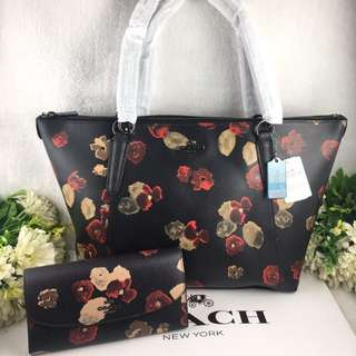 COACH TOTE AVA AND WALLET